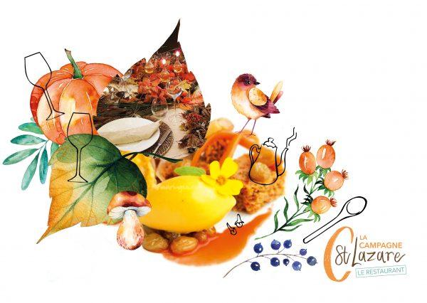 carte automne restaurant végétarien